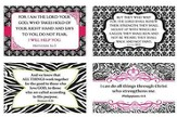 Women's Encouraging Verses Wall Cards, Pack of 4