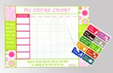Inspirational Chore Chart, Pink and Green
