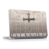 I Am the Way, The Truth and the Life Vinyl Fabric Laptop Cover
