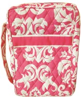 Quilted Bible Cover, Pink and White, Large