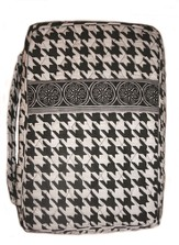 Quilted Bible Cover, Black and White, Medium