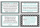 God's Words of Care Verses Wall Cards, Pack of 4
