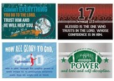 Vintage Sports Inspirational Verses Wall Cards, Pack of 4