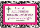 I Can Do All Things Through Christ Vinyl Fabric Laptop Cover