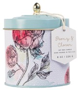 Dome Tin Candle, Peony and Clover, 8 ounce