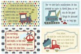 Self Worth Verses for Boys with Transportation Vehicles  Pack of 4