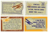 Self-Control Verses with Vintage Airplane Wall Cards, Pack of 4