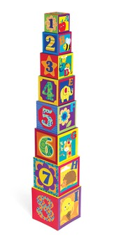 Earl years ABC & 123 Stacking Cubes