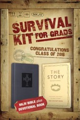NKJV 2016 Survival Kit for Grads, Navy Blue