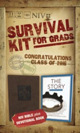 NIV 2016 Survival Kit for Grads, Brown
