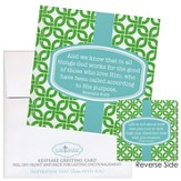 God Works For the Good Notecard Sticker