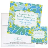 Commit To the Lord Whatever You Do Notecard Sticker