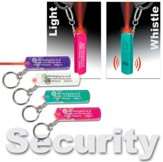 Whistle Light Key Ring; Assorted Colors