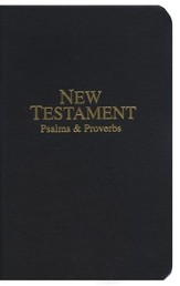 KJV Economy Pocket New Testament with Psalms   and Proverbs, Imitation Leather, Black