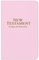 KJV New Testament with Psalms and Proverbs, Economy,  Imitation Leather, Pastel Pink