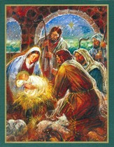 He Is Born Christmas Cards, Deluxe Box of 18