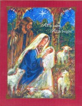 Silent Night Christmas Cards, Deluxe Box of 18