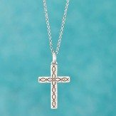 Cross Necklace with Fish Pattern