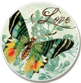 Love Butterfly Auto Coaster