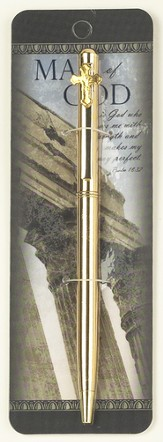 Man of God Pen, with Cross, Gold