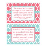 Courage Decals, Pink and Blue, Pack of 2