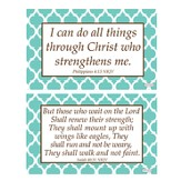 Strength Decals, Green and White, Pack of 2