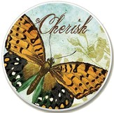 Cherish Butterfly Auto Coaster - Slightly Imperfect