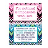 Encouragement Decals, Pink and Blue, Pack of 2
