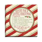 Recipe for a Joyful Christmas, Canvas Plaque