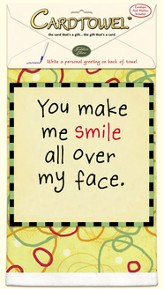 You Make Me Smile, Gift Towel to Personalize, Envelope and Pen Included