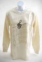 Make a Joyful Noise Long-sleeve Tee, Medium (38-40)