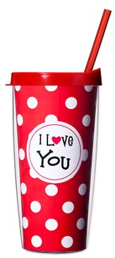 I Love You...Mug with Straw