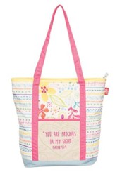 You Are Precious in His Sight--Quilted Tote Bag