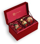 Peace, Joy, Love Neqwa Ornaments, Box of 3