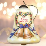 Love, Happy Anniversary Neqwa Bell Shaped Ornament