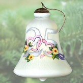Happy 25th Anniversary Neqwa Bell Shaped Ornament
