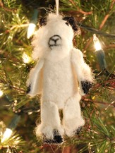 Felt Ornament Finger Puppet, Goat, Fair Trade Product