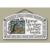 Home is Where Your Journey Begins Plaque