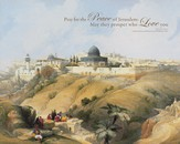 Pray For the Peace Of Jerusalem, Wall Art                 Canvas Wall Art, 16 x 20