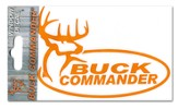 Buck Commander Decal, Orange