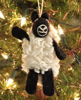 Felt Ornament Finger Puppet, Sheep, Fair Trade Product