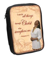 Philippians 4:13 Bible Cover Tan