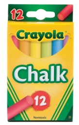 Crayola, Multicolored Chalk, 12 Pieces