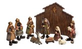 Whimsical Childrens' Nativity Set with Manger, 10 piece