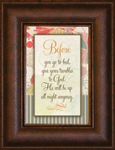 Before You Go to Bed Mini Framed Print