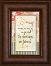 Blessings Come in Many Ways Mini Framed Print