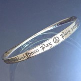 Peace in 40 Languages Mobius Bracelet
