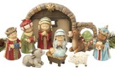 Childlike Nativity Set, 10 Pieces
