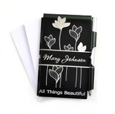 Personalized, All Things Beautiful Memo Pad, Black