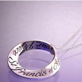 St. Francis Prayer--Mobius Necklace